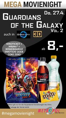 Bild: MEGA MovieNight Guardians of the Galaxy Vol. 2