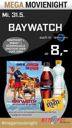 Bild: MEGA MovieNight: Baywatch