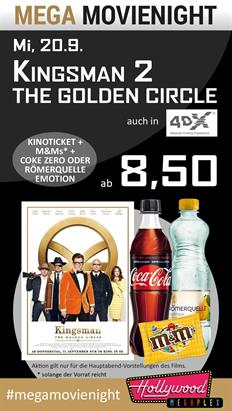 Bild: MEGA MovieNight: Kingsman 2 - The Golden Circle