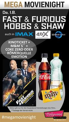 Bild: MovieNight: Fast & Furious: Hobbs & Shaw